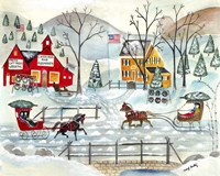 Fresh Christmas Trees and Sled Maker Fine-Art Print