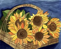 Sunflower Basket Fine-Art Print