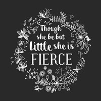 Though She Be But Little - Wreath Doodle Gray Fine-Art Print