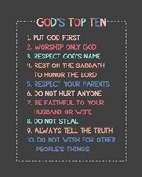 God's Top Ten Stitch Border - Pink Fine-Art Print