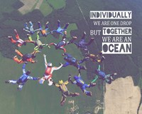 Together We Are An Ocean - Skydiving Team Color Fine-Art Print