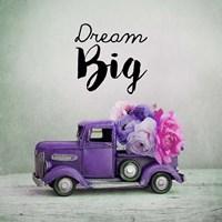 Dream Big - Purple Truck and Flowers Fine-Art Print