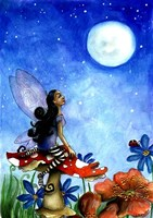 Fairy On A Toadstool Fine-Art Print
