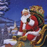 Roof Top Santa Fine-Art Print