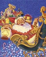 Santa Sleigh Sparkles Fine-Art Print
