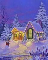 Xmas Cabin Fine-Art Print