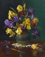 Iris in Cloisonne Vase Fine-Art Print