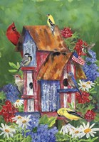 Patriotic Birdhouse Fine-Art Print