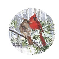 Winter Wonder Cardinal Couple Fine-Art Print