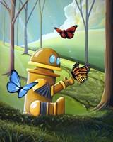 Bot and the Butterflies Fine-Art Print