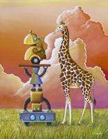Robots On Safari Fine-Art Print