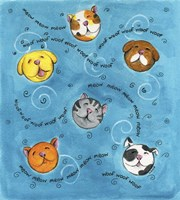 Bouncey Balls Cats and Dogs Fine-Art Print