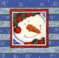 Scarf Snowman 1 Fine-Art Print