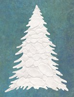 Snowy Fir Tree on Blue Fine-Art Print