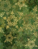 Star Pattern Green and Gold Fine-Art Print