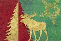 Xmas Tree and Moose Fine-Art Print