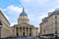 Le Pantheon And Sorbonne University Fine-Art Print