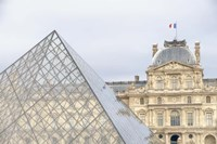 Louvre Palace And Pyramid II Fine-Art Print