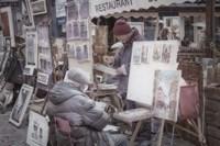 Monmartre Artist Working On Place du Tertre I Fine-Art Print