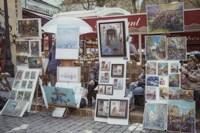 Monmartre Artist Working On Place du Tertre II Fine-Art Print
