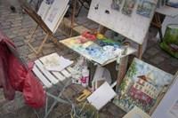 Monmartre Artist Working On Place du Tertre III Fine-Art Print