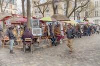 Monmartre Artist Working On Place du Tertre IV Fine-Art Print