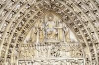 Notre Dame Facade Details II Fine-Art Print