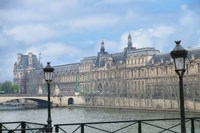 The Louvre Palace And Seine River Fine-Art Print