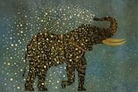 Gold Spraying Elephant Fine-Art Print