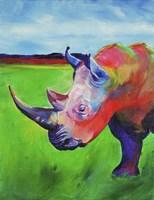 Painted Rhino Fine-Art Print