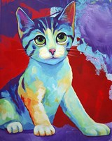 Colorful Kitten Finningan Fine-Art Print