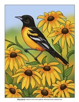State Birds And Flowers MD Fine-Art Print