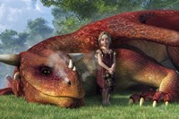 A Little Girl And Her Dragon Fine-Art Print