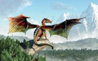 Perched Dragon Fine-Art Print