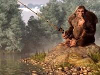 Squatch Fishing Fine-Art Print
