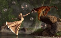 Surreal Tiger Bubble Water Dancer Fine-Art Print