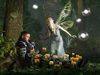 The Knight And The Faerie Fine-Art Print