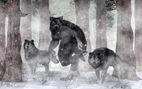 Werewolf And Wolves Fine-Art Print