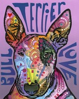 Bull Terrier Love Fine-Art Print