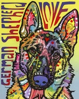German Shepherd Love Fine-Art Print