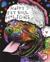 Christmas Pitbull Fine-Art Print