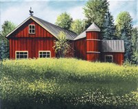Red Barn Summer 1 Fine-Art Print