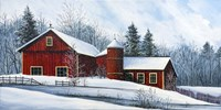 Red Barn Winter Fine-Art Print