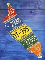 Aruba License Plate Map Fine-Art Print
