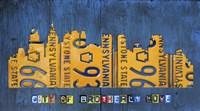 Philly Skyline License Plate Art Fine-Art Print