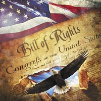 Bill of Rights Eagle Bursting Out Fine-Art Print