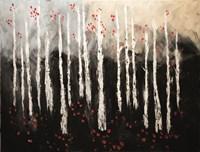 Little Red Birch Forest Fine-Art Print