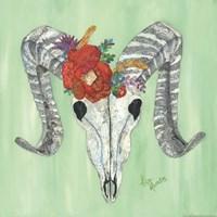 Floral Ram Skull Fine-Art Print