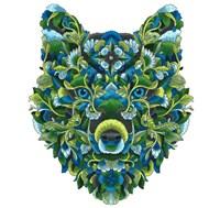 Blooming Animals - Wolf Fine-Art Print