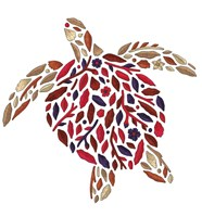 Blooming Animals - Turtle Fine-Art Print